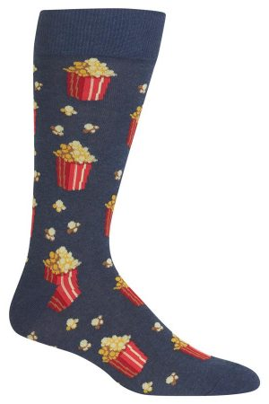 Popcorn Hot Sox Dress Crew Socks Denim