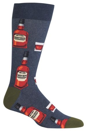 Bourbon Hot Sox Dress Crew Socks Denim