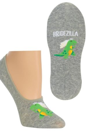 Bridezilla Hot Sox Foot liner Socks Grey