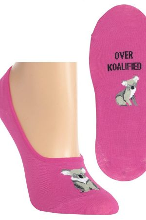 Overkoalified Hot Sox Foot liner Socks Pink