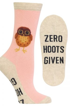 Zero Hoots Given Hot Sox Trouser Crew Socks Blush
