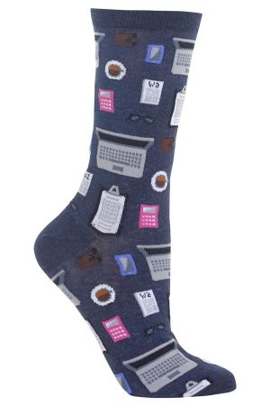 Accountant Hot Sox Trouser Crew Socks Denim