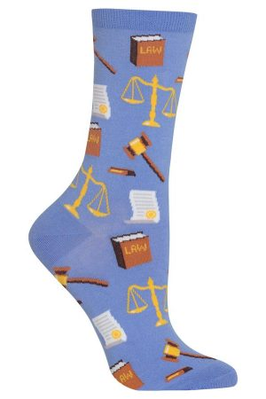 Lawyer Hot Sox Trouser Crew Socks Periwinkle