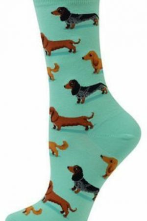 Dachshunds Hot Sox Trouser Crew Socks Mint