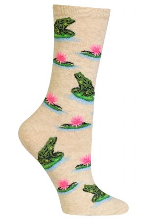 Frogs Hot Sox Trouser Crew Socks Natural