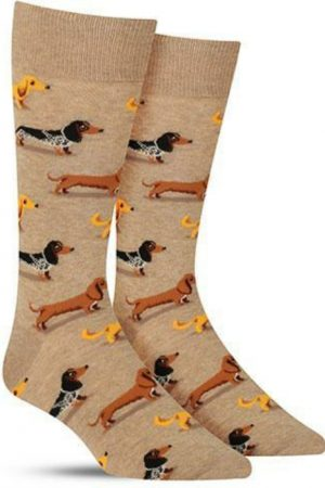 Dachshunds Hot Sox Dress Crew Socks Hemp