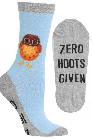 Zero Hoots Given Hot Sox Trouser Crew Socks Lt Blue