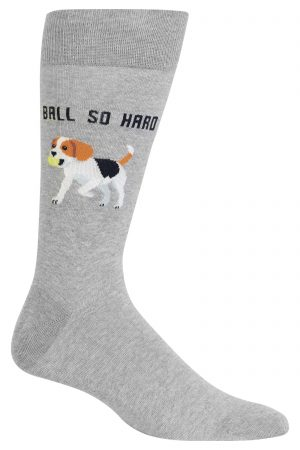b82c9859443 Beagle Ball So Hard Hot Sox Dress Crew Socks Grey New Men s 10-13 Fashion
