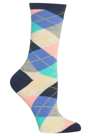 Argyle Hot Sox Trouser Crew Socks Denim