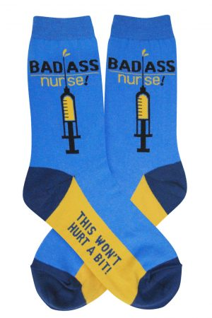 Bad Ass Nurse Foot Traffic Trouser Crew Socks