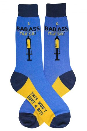 Bad Ass Nurse Foot Traffic Dress Crew Socks