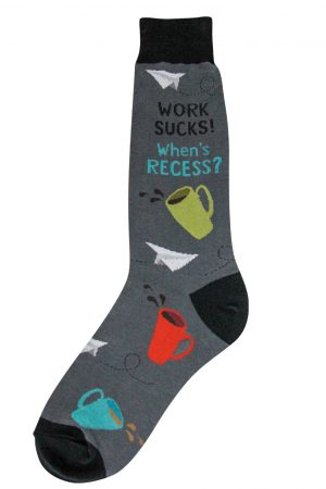 Work Sucks Foot Traffic Dress Crew Socks
