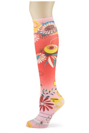 Asian Garden Soxtrot Thin Knee High Socks