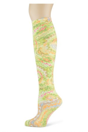 Splash of Lime Soxtrot Thin Knee High Socks