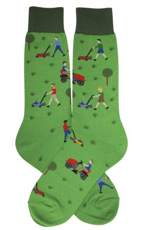 Mowing Foot Traffic Dress Crew Socks