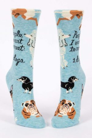 People I Want to Meet: Dogs Blue-Q Trouser Crew Socks