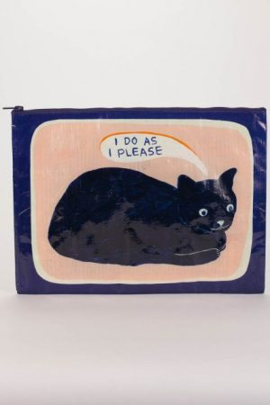 I Do as I Please Blue-Q Zipper Jumbo Pouch