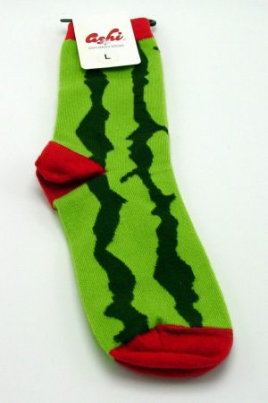Watermelon Mid Calf Crew Socks New Unisex Large