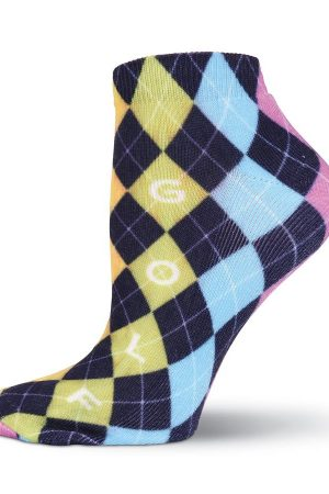 Argyle Golf K Bell Sport Ankle Socks