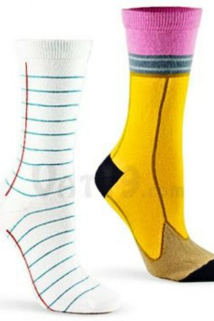 Pencil & Paper Ashi Dashi Mid Calf Crew Sock Set