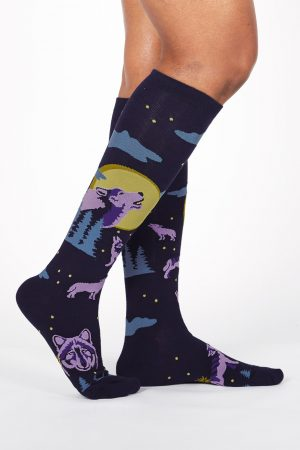 6 Wolf Moon Sock It To Me Women's Knee High Socks
