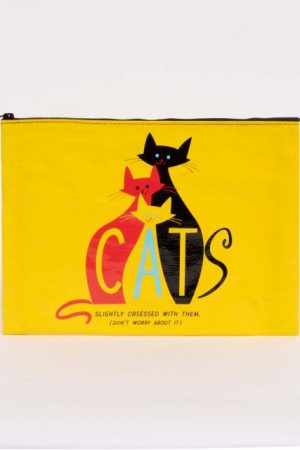 Cats-Slight Obsessed Blue-Q Jumbo Pouch