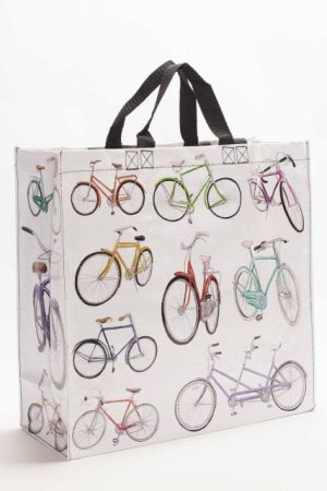 Vintage Bicycles Blue-Q Shopper Tote New