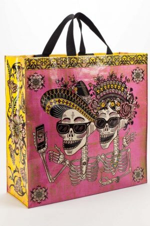 Day of the Dead Blue-Q Shopper Tote
