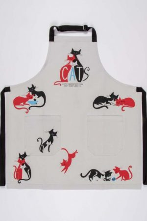 Cats Slightly Obsessed Blue-Q Apron Cotton Twill