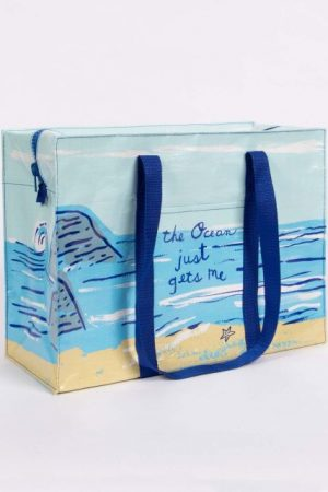 The Ocean Blue-Q Shoulder Tote