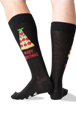 Merry Crustmas Hot Sox Non-Skid Slipper Socks