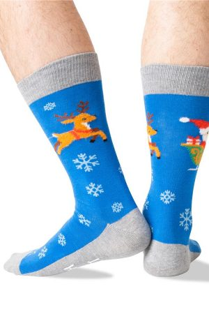 Sleigh What? Hot Sox Non-Skid Slipper Socks