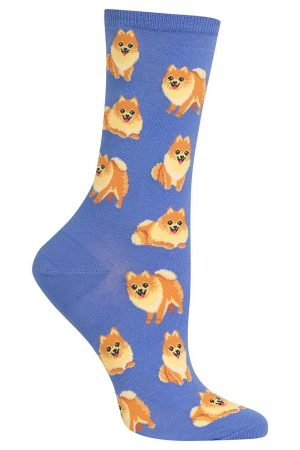 Pomeranian Hot Sox Trouser Crew Socks Periwinkle