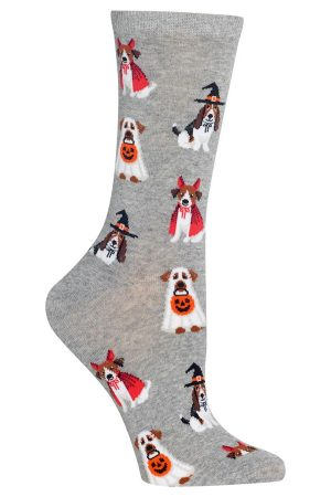 Costume Dogs Hot Sox Trouser Crew Socks Grey