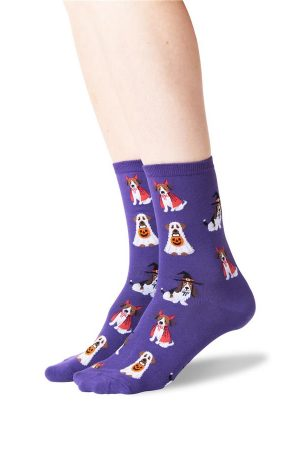 Costume Dogs Hot Sox Trouser Crew Socks Purple