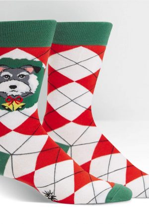 Deck the Paws Argyle Dress Crew Socks