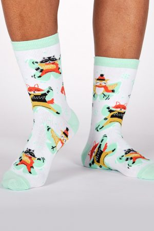 Snow Day Forest Friends Trouser Crew Socks