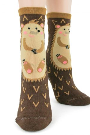 Hedgehog Foot Traffic Non-Skid Slipper Socks