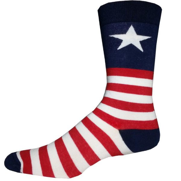 Captain USA Bigfoot Sock Co. Novelty Crew Socks New Men X-Large