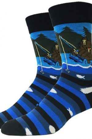 Fishing Bigfoot Sock Co. Novelty Crew Socks New Men X-Large