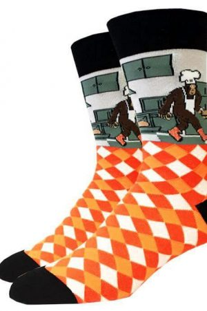 Cooking Bigfoot Sock Co. Novelty Crew Socks New Unisex M/L