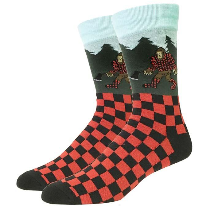 Lumberjack Bigfoot Sock Co. Novelty Crew Socks New Men X-Large