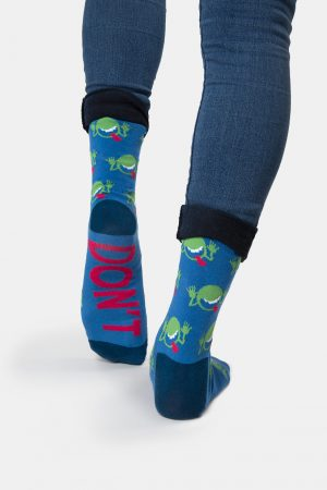 Hitchhiker's Guide to the Galaxy Out of Print Unisex Large Crew Socks