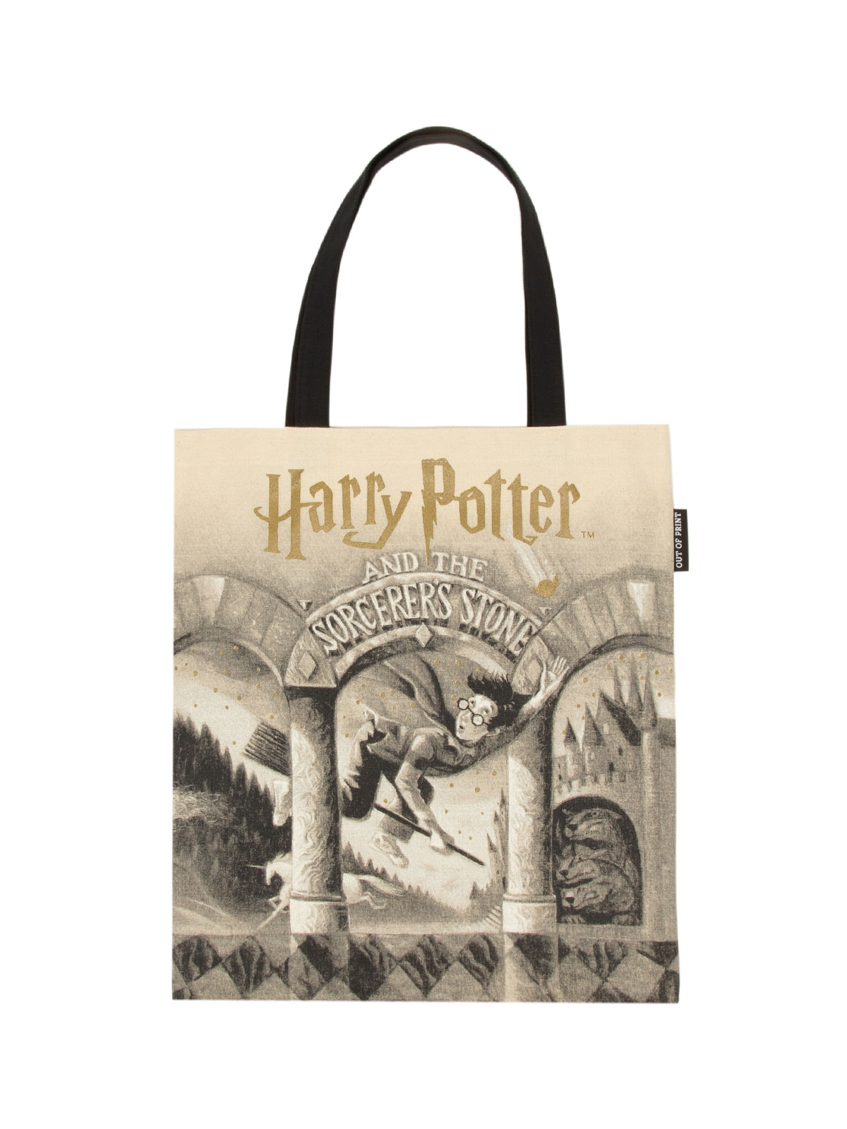 Harry Potter & the Sorcerer's Stone Out Of Print Book Cover Canvas Tote Bag