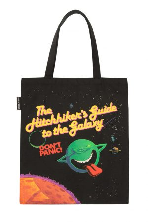 Hitchhiker's Guide to the Galaxy Out Of Print Book Cover Canvas Tote