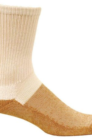Premium Copper Sole Men's Crew Socks White Anti Fungal