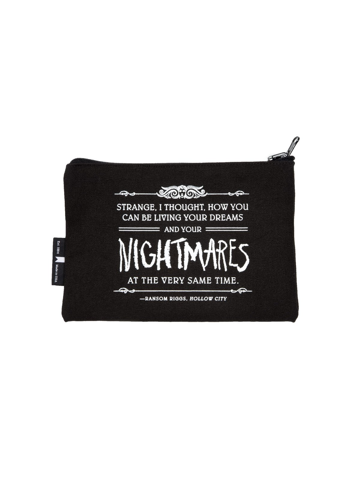 Miss Peregrine's Home Out Of Print Canvas Pouch