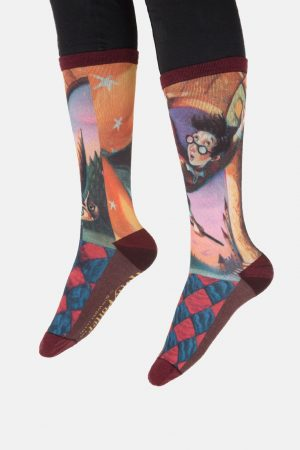 Harry Potter and the Sorcerer's Stone Out of Print Unisex L Crew Socks
