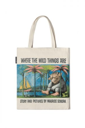 Where the Wild Things Are Out Of Print Book Cover Canvas Tote Bag
