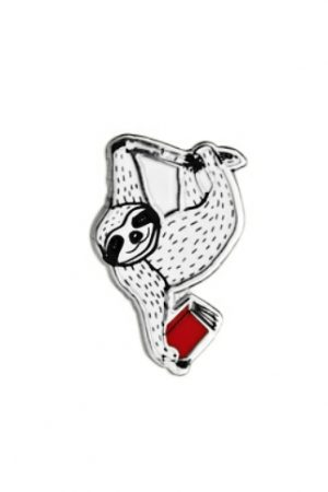 Book Sloth Out Of Print Enamel Lapel Pin
